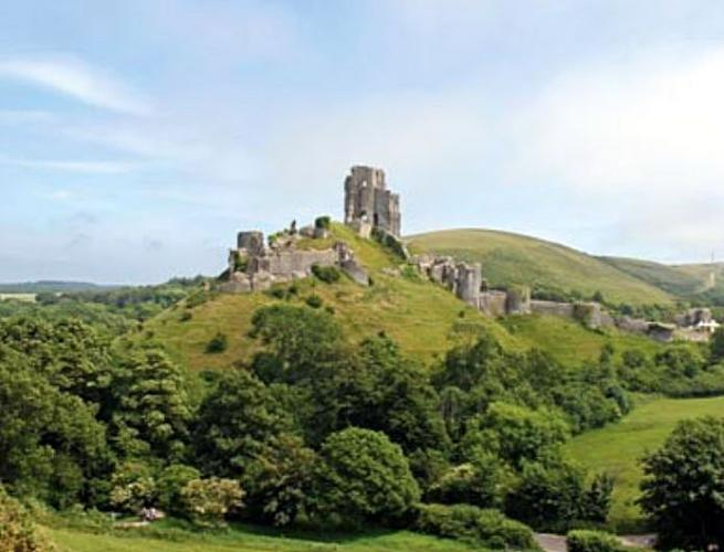 Corfe vára  Dél-Angliában