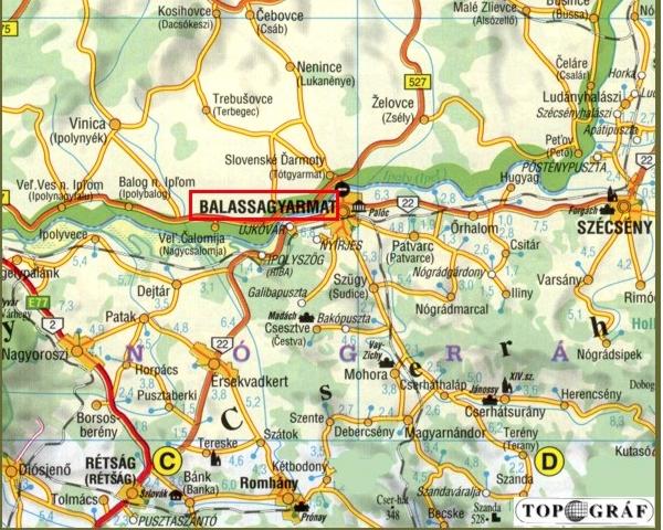 balassagyarmat térkép Balassagyarmat   Vár balassagyarmat térkép