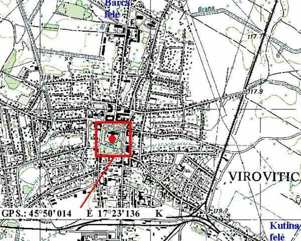 verőce térkép Verőce   Pejácsevics kastély verőce térkép