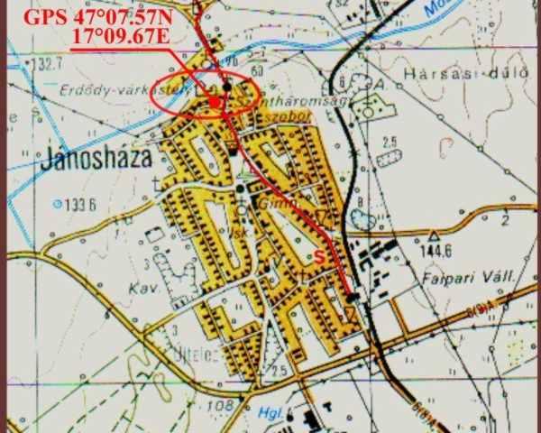 jánosháza térkép Jánosháza   Erdődy várkastély jánosháza térkép