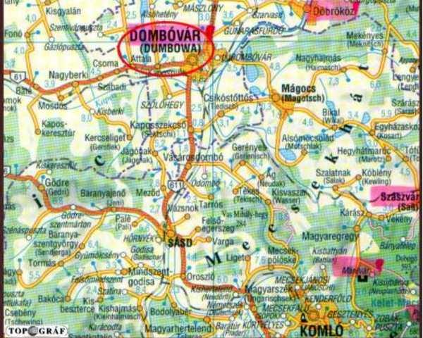 dombóvár térkép Dombóvár   Dombó Pál vára dombóvár térkép