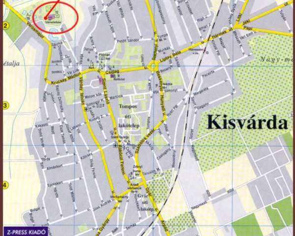 kisvárda térkép Kisvárda Térkép | groomania
