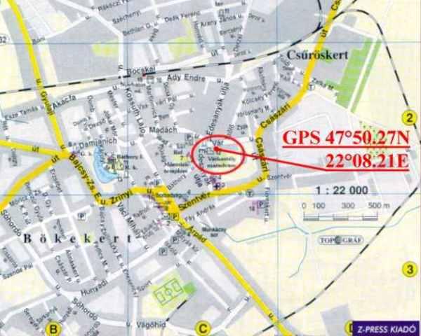 nyírbátor térkép Nyírbátor   Vár nyírbátor térkép