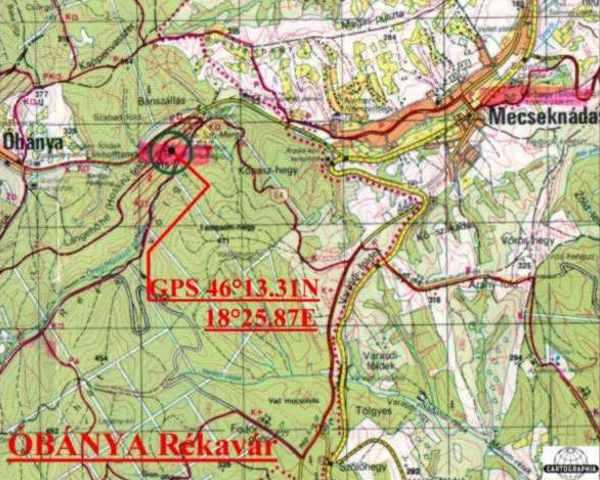 óbánya térkép Óbánya   Rékavár óbánya térkép