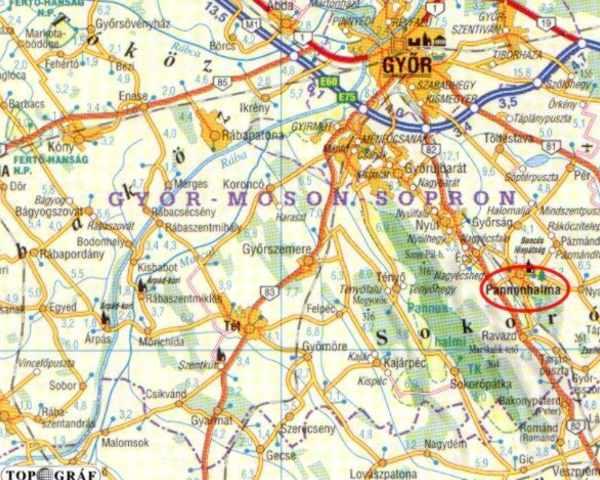 pannonhalma térkép Pannonhalma   Vár pannonhalma térkép