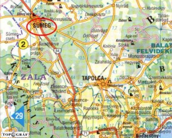magyarország térkép sümeg Sümeg   Vár magyarország térkép sümeg