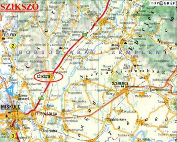 szikszó térkép Szikszó   templom szikszó térkép
