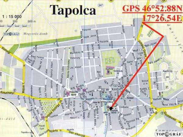 tapolca térkép Tapolca   Vár tapolca térkép