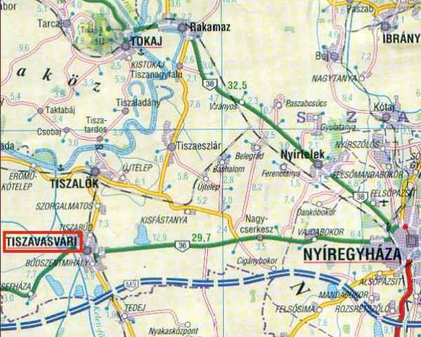 tiszavasvári térkép Tiszavasvári   templom tiszavasvári térkép