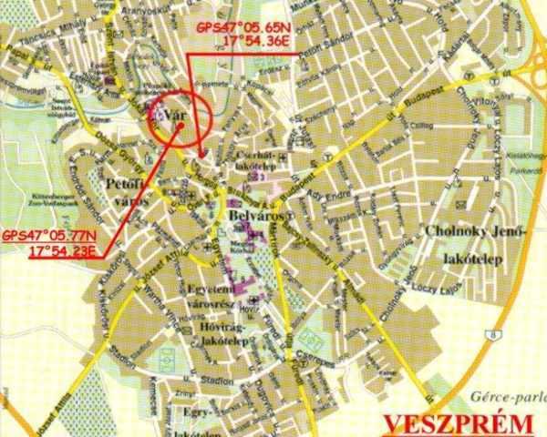 veszprém látnivalók térkép Veszprém   Vár veszprém látnivalók térkép