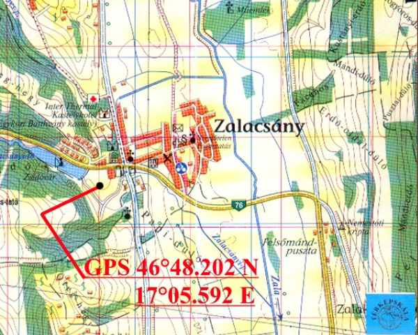 zalacsány térkép Zalacsány   Törökvár zalacsány térkép