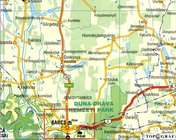barcs térkép Barcs   török palánkvár barcs térkép