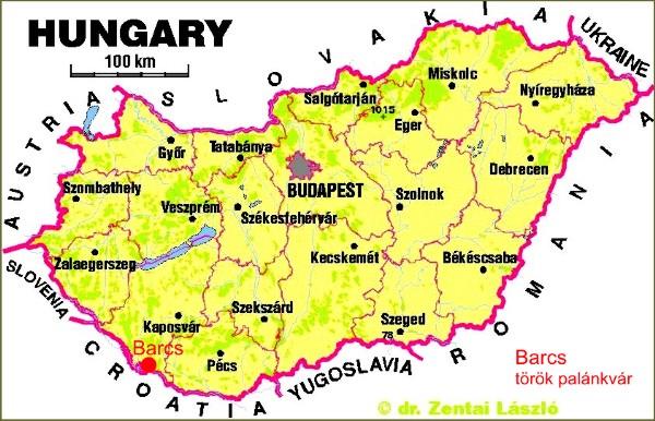magyarország térkép barcs Barcs   török palánkvár magyarország térkép barcs